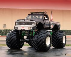 Sweet monster truck