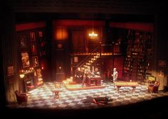 Sleuth. Barrington Stage Company. Scenic design by David Barber. 2009