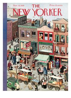 The New Yorker Cover - November 1939 Poster Print by Beatrice Tobias at the Condé Nast Collection The New Yorker, New Yorker Covers, Old Magazines, Vintage Magazines, Capas New Yorker, Editorial Illustration, Book Illustration, Journal Vintage, Bb Beauty