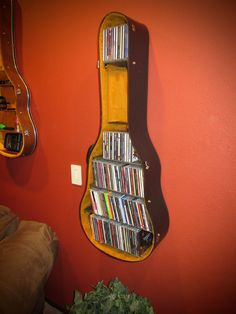 """""""Taste of Honey"""" This Guitar Case shelf is the Perfect Christmas Gift!!! To purchase one of my Guitar Case Shelves shown above, please visit my Etsy store at jimbosguitarshelves or my website at www.jimbosguitarshelves.weebly.com Thanks! #GuitarCase"""