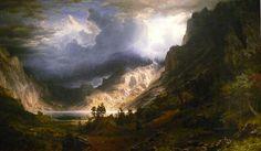 wow:Bierstadt A Storm in the Rocky Mountains, Mt Rosalie
