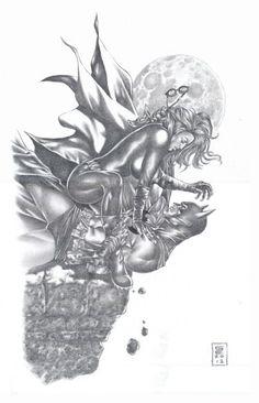 Batman and Catwoman by Gene Espy