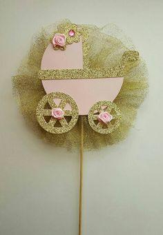 Pink and gold centerpiece princess centerpiece ballerina centerpiece pink gold diaper cake topper