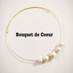 Handmade cotton pearl necklace