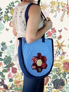 FREE SHIPPING-Mothers Day-Honeycomb HandBag-Gift-Bag-Patchwork