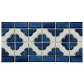 Found it at Wayfair - Castle Random Sized Porcelain Glazed Mosaic in White and Cobalt