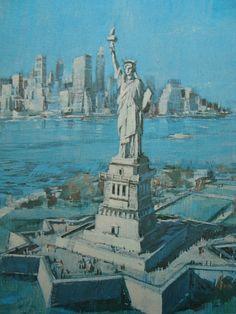 Statue of Liberty New York City Vintage Print on by iowajewel Liberty New  York ecd6f334d5