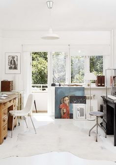 studio space - all white