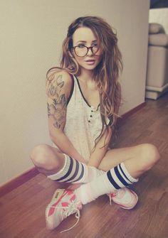 nice #ink and #beautiful #hair