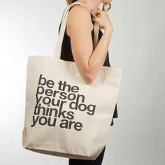 This tote bag she'll use so much, you'll get tired of seeing it.