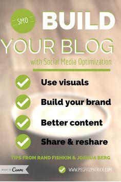 Build Your Blog with Social Media Optimization (SMO) #blogtips #blogging http://pegfitzpatrick.com/2014/05/12/build-blog-social-media-optimization-smo/