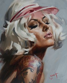 Stunning Oil Paintings Of Tattooed Women By Chris Guest: 7