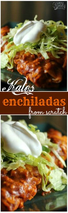 I got this recipe from my sister-in-law, she makes her enchiladas from scratch and it is so delicious! I will never go back to using the canned stuff. via @favfamilyrecipz
