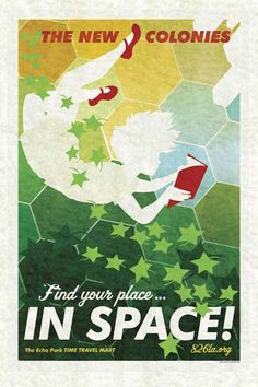 Find your place in space poster by Amy Martin