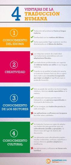4 ventajas de la traducción humana (infografía)