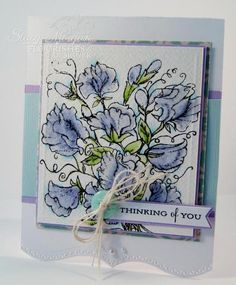 Soft Sweet Peas by Twinshappy - Cards and Paper Crafts at Splitcoaststampers