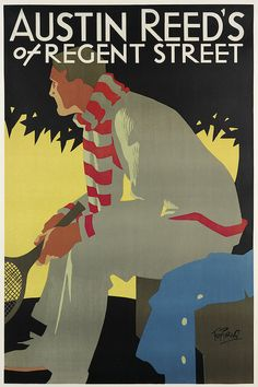 TOM PURVIS (1888-1959) AUSTIN REED'S OF REGENT STREET. Circa 1930.  poster
