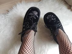 @colorfxlthoughts wearing our top selling rose creepers 🖤 Did you get your hands on a pair of these beauties already?