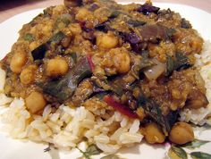 curried lentil stew with chickpeas & chard by you can count on me, via Flickr