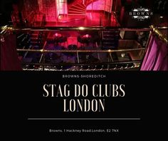 Are you planning for a night out with friends? Browns Shoreditch is the best stage do clubs in London. Stag do events help you make your night to remember. Contact us today at 0207 490 4789 London Clubs, Stage Show, Night Club, Events, How To Plan, Friends, Amigos, Boyfriends, True Friends