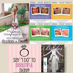 ATTENTION ALL BRIDES TO BE!!! Look your absolute best on your wedding day by using Rodan + Fields! Our clinically proven products will have your skin glowing and makeup perfect for your perfect day! Whether you are the bride to be, mother of the bride, maid of honor, or the groom EVERYONE wants to look amazing on the big day! jenwells21@gmail.com