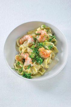 Pasta met langoustines  http://njam.tv/recepten/pasta-met-langoustines