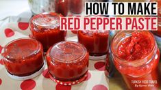 Red Pepper Paste, How To Make Red, Food Hacks, Food Tips, Salad Sauce, Eastern Cuisine, Salsa Recipe, Turkish Recipes, Mediterranean Recipes