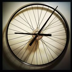 Bicycle Wheel Clock, Wall Clock, Bicycle Clock, Steampunk Wall Clock, Unique Wall Clocks, Bike Wheel Clock by DreamGreatDreams on Etsy https://www.etsy.com/listing/233911179/bicycle-wheel-clock-wall-clock-bicycle