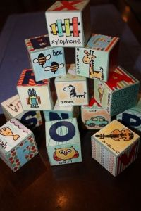 BABY BLOCKS TUTORIAL FOR BABY SHOWER ACTIVITY