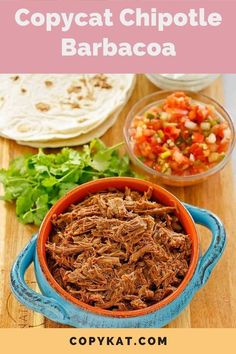 Learn how to make Chipotle Mexican Grill Barbacoa at home with this easy copycat recipe. The marinade infuses deep flavor into a beef roast. It's slow cooked in the oven until fall apart tender. Barbacoa is the ultimate shredded beef for tacos and burritos. Can also be made with lamb for a special meal. #barbacoa #beefrecipe #mexicanfood #shreddedbeef #copycat #copycatrecipes Chipotle Recipes, Chipotle Mexican Grill, Beef Recipes, Cat Recipes, Mexican Food Recipes, Scottish Recipes, Turkish Recipes, Romanian Recipes