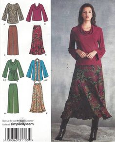 Simplicity Sewing Pattern 3568 Womens Pullover Top by CloesCloset