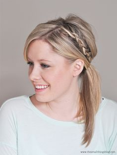 See the latest—a double-braided ponytail—from our friend Kate at the Small Things Blog. Click on the photo for the video tutorial.