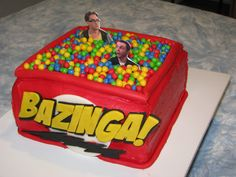 Big Bang Theory Cake - This is the first cake I've made, it was for my husbands birthday.  I hit a few snags that I wish I had time to fix.