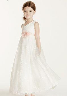 David's Bridal Juniors KP1338 Flower Girl Dress - The Knot
