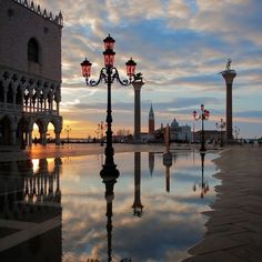 Venice, Italy - Those pink glass street lamps are one of my favorite details in Venice. - Venice, Italy – Those pink glass street lamps are one of my favorite details in Venice… - Places Around The World, The Places Youll Go, Places To See, Around The Worlds, Wonderful Places, Beautiful Places, Photos Voyages, Italy Travel, Italy Vacation