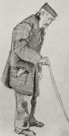 Orphan Man with Cap and Walking Stick 1882 - Vincent van Gogh
