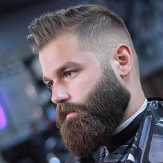 30 Cool Beard Trim Styles For Men Short Beard Styles, Among the ideal hairstyle for men that have a receding hairline is the buzz cut. For people who like to maintain a beard, it is quite important . Beard Cuts, Beard Fade, Sexy Beard, Full Beard, Epic Beard, Barba Grande, Beard Styles For Men, Hair And Beard Styles, Comb Over Fade Haircut