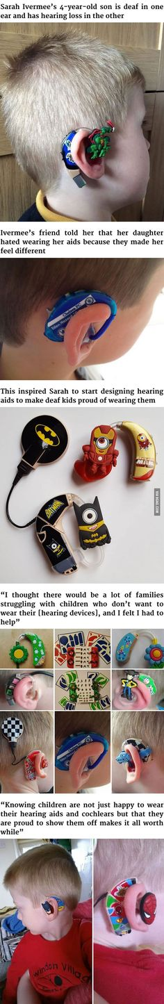 This Mom Turns Her Son's Hearing Aids Into Superheroes