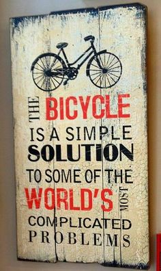 The bicycle is a simple solution to some of the world's most complicated problems. http://thecyclingbug.co.uk/default.aspx?utm_source=Pinterest&utm_medium=Pinterest%20Post&utm_campaign=ad #thecyclingbug #cycling #bike