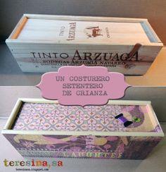 Reciclando cajas de vino