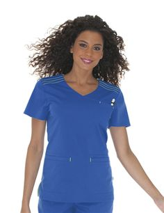 #9011 Sporty Pintucked Crossover Top