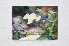 Leon Sadler, Standard Fantasy: Trying To Dream Bigger, 2016, dye-based aquarelle, aquarelle pastel on paper with plastic grommets