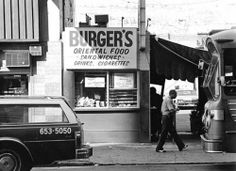 Fast food restaurants in Los Angeles, 1970s © William Reagh