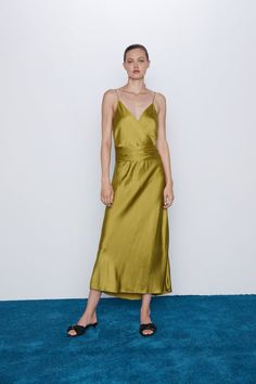 SATIN LINGERIE STYLE DRESS - View all-DRESSES-WOMAN | ZARA United States