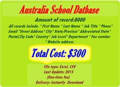 Australia School, Fax Number, Job Title, City State, Email List, First Names, Online Marketing, Internet Marketing
