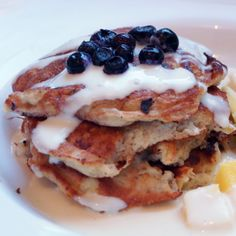 Banana pancakes with cottage cheese (SWE) Cottage Cheese Pancakes, Banana Pancakes, Breakfast Recipes, Lunch, Food, Brunch Recipes, Food Food, Plantain Pancakes, Eat Lunch