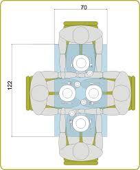 Resultado de imagen de tamaño mesa redonda para 6 comensales