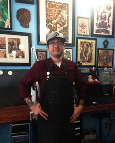 """Paul Schorsch, known as """"Paulski"""" overcame his profound deafness to become a talented and beloved tattoo artist at The Golden Rule Tattoo. Deaf Tattoo, Beloved Tattoo, Deaf People, Deaf Culture, American Sign Language, Golden Rule, Inspiring People, Body Art Tattoos, Tattoo Artists"""