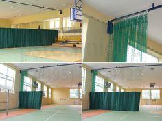 Роликовый разделительный занавес спортивного зала