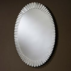 This Is The Birdie Round Mirror From Deknudt Mirrors With A Frame - Contemporary oval mirrors